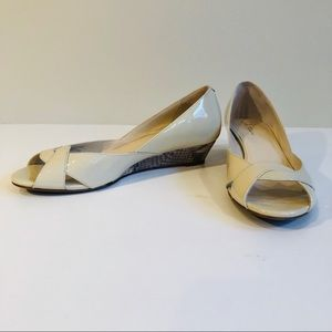 Cole Haan Shoes - Cole Haan Nike Air Darleen Patent Wedge in Cream